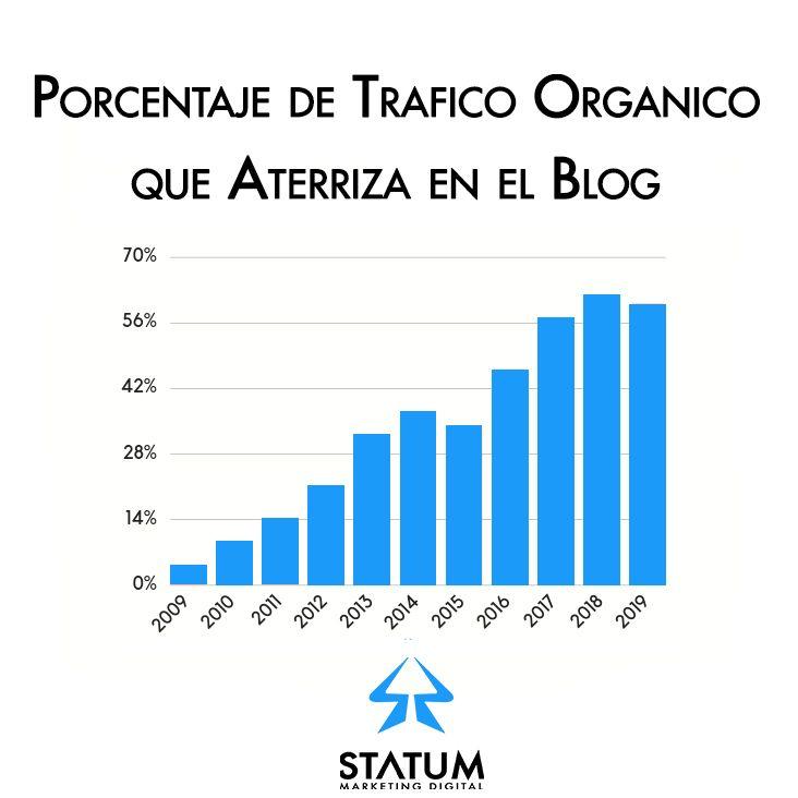 % Trafico Organico en Blog SEO