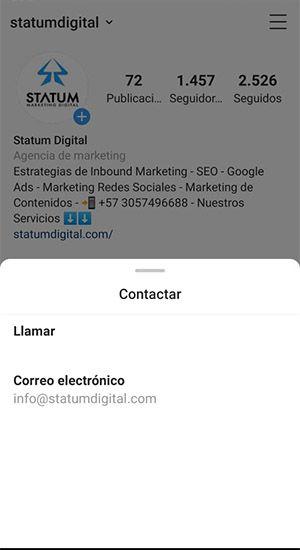 optimiza contacto instagram vende mas